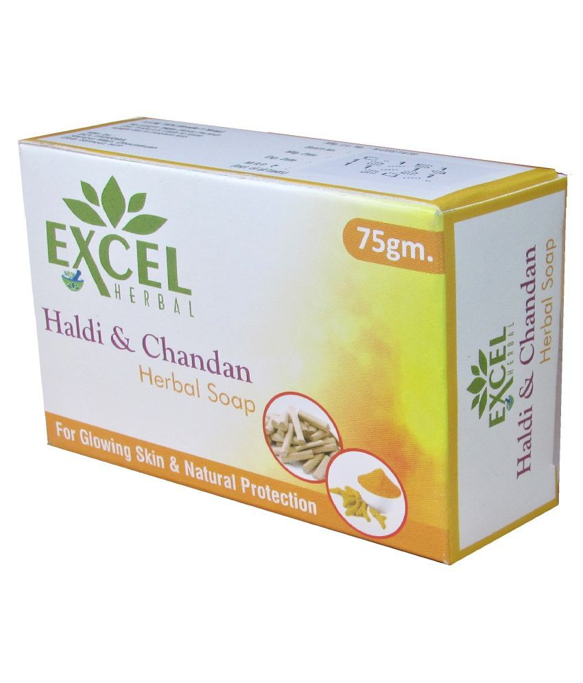 EXCEL HERBAL haldi chandan Soap 75 g Pack of 10