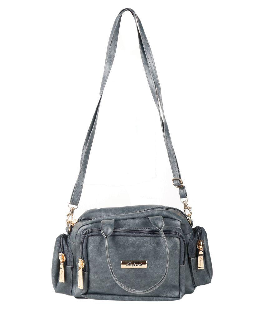Expert Bags Gray P.U. Sling Bag