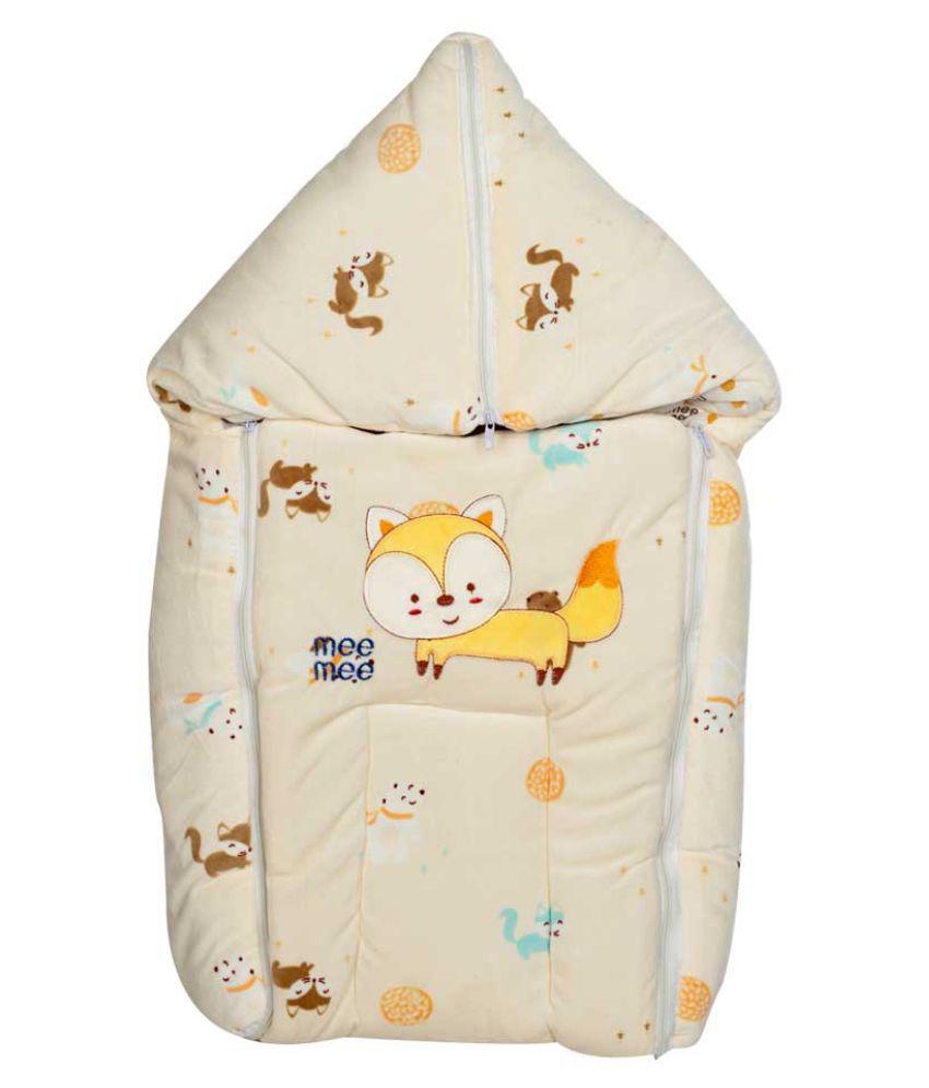 Mee Mee Yellow Cotton Baby Wrap cum blanket ( 42 cm × 2 cm - 1 pcs)