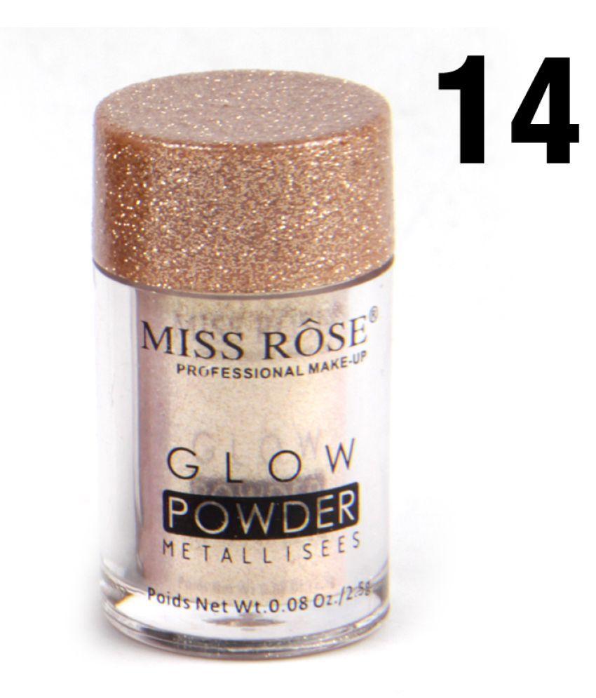 Miss Rose 16 Shades Eye Shadow Glow Powder Eye Shadow Powder Colours 10 g