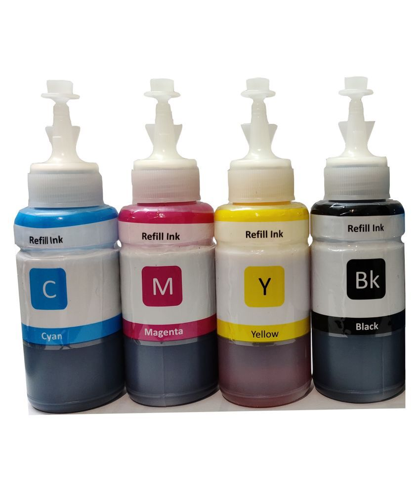 REFILL INK HP GT Series Multicolor Pack of 4 Ink bottle for Compatible GT 5810, 5820, 5821, 310,319,315