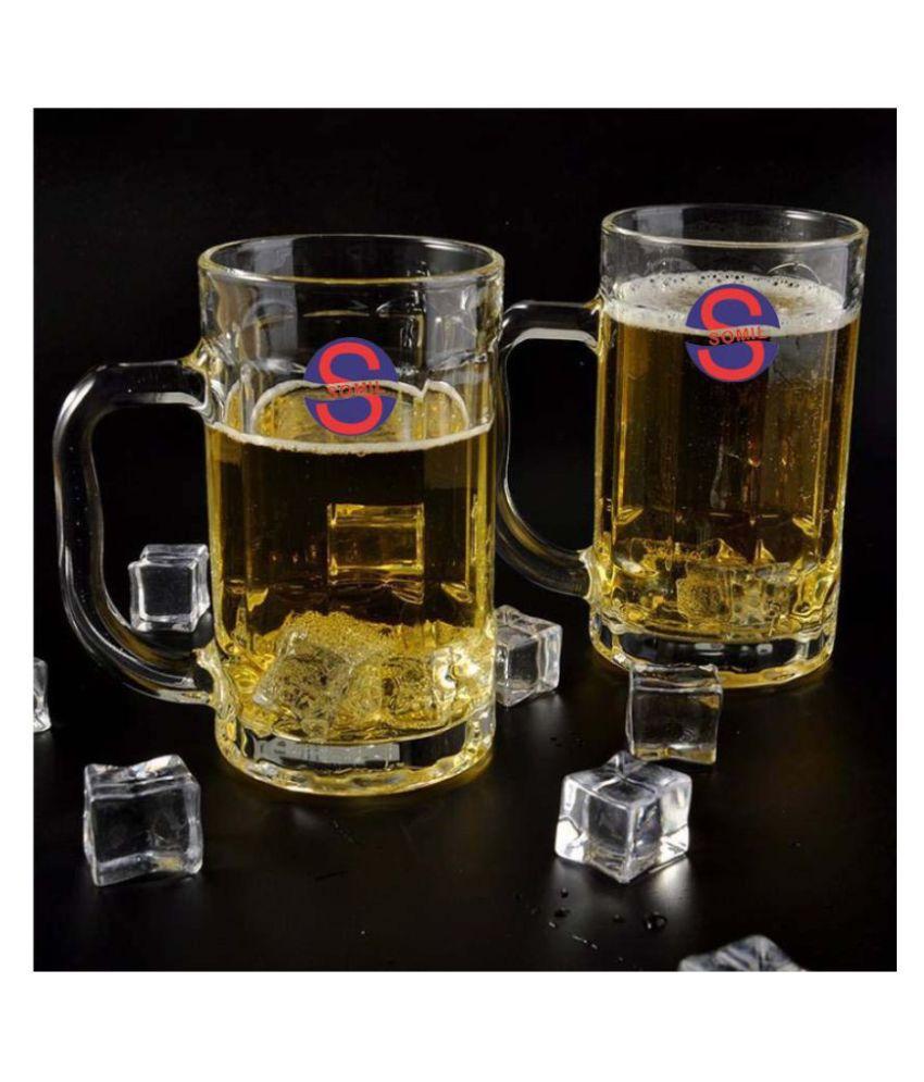 Somil Glass 400 ml Beer Glasses & Mugs
