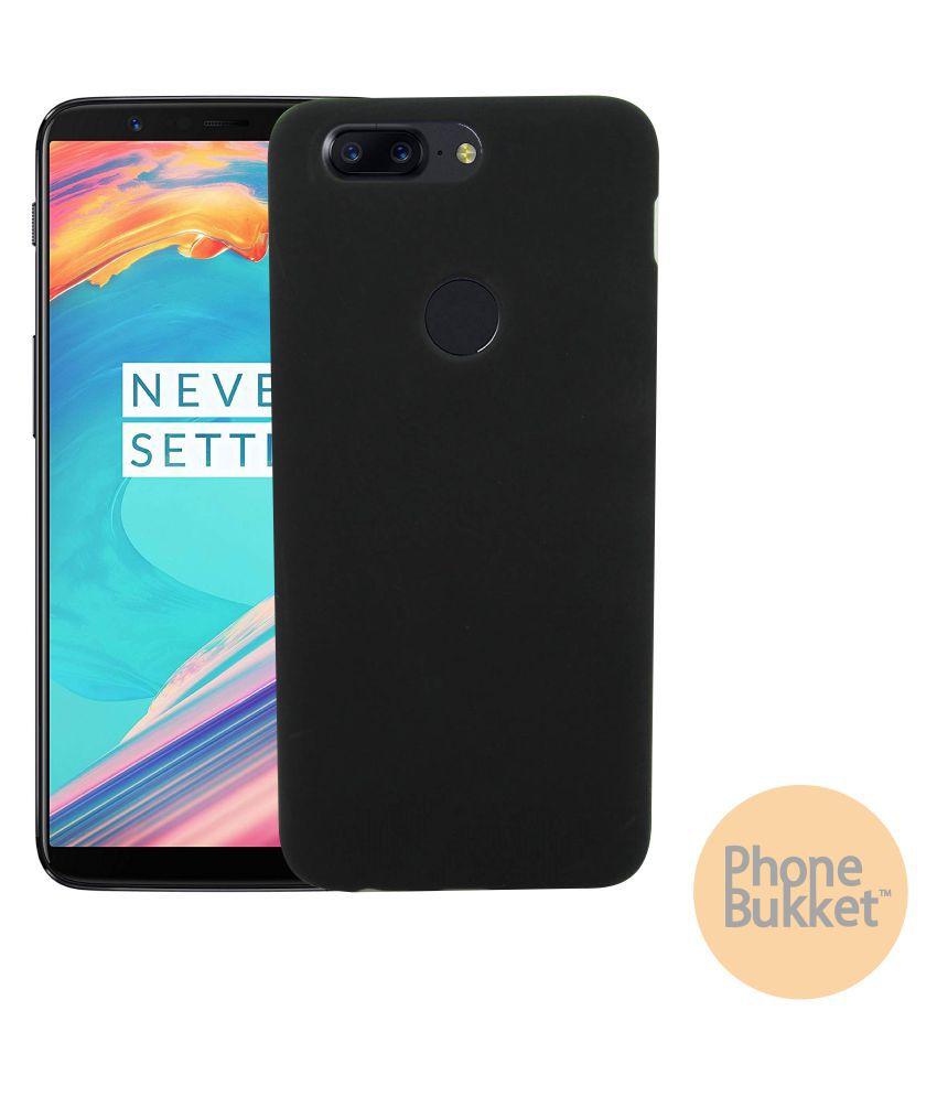 PhoneBukket Soft TPU Back Cover for OnePlus 5T (Black)
