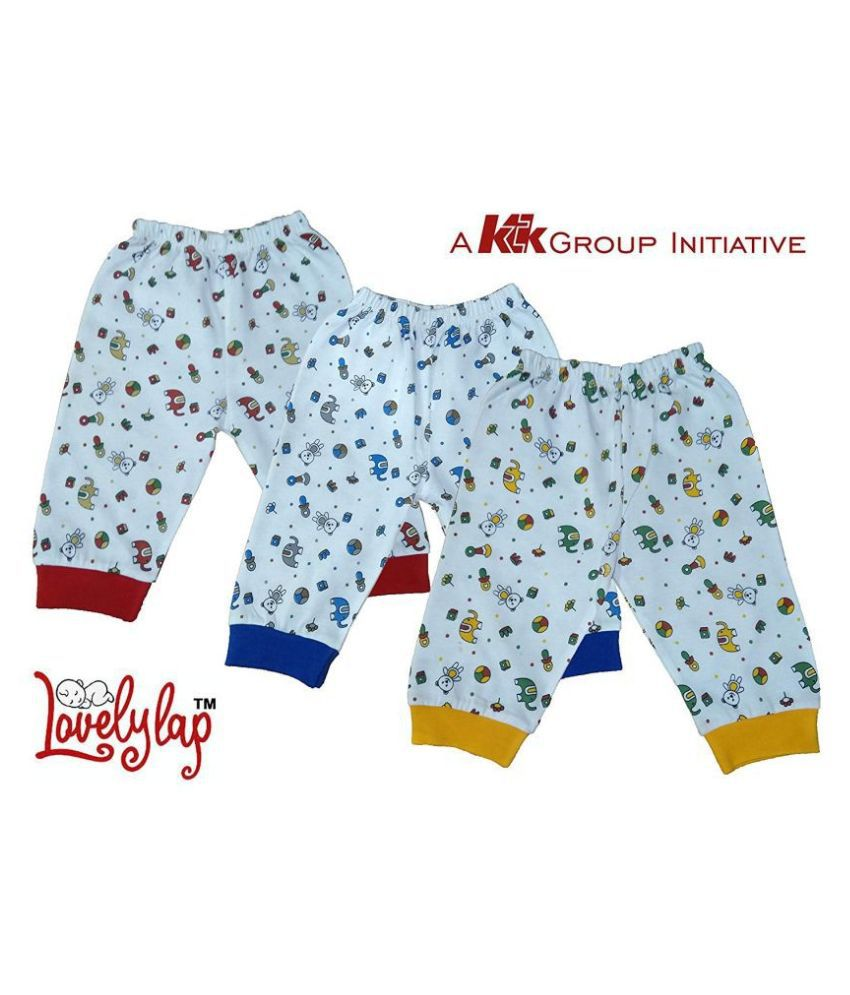 LOVELYLAP  High Quality Printed Cotton Lowers Pajama for Baby Boys(Pack of 3)