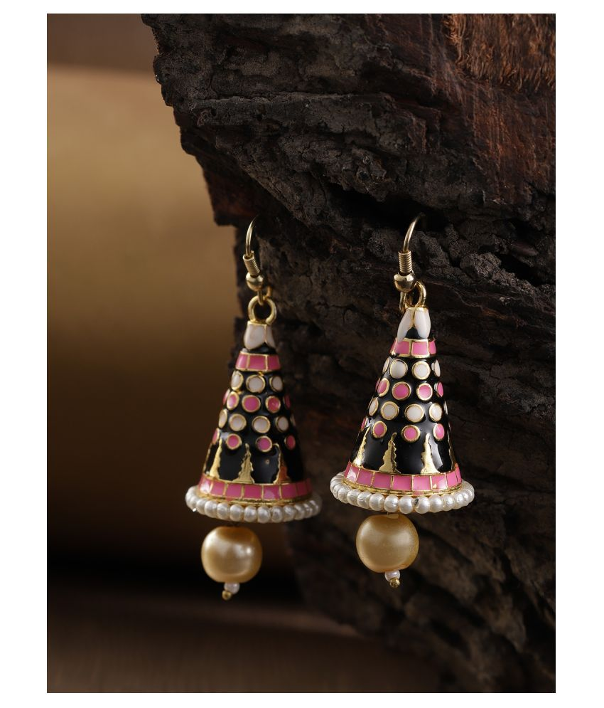 Priyaasi Gold Plated Pearls Dangle & Drop Earring for Women & Girls (Multi-Colour)