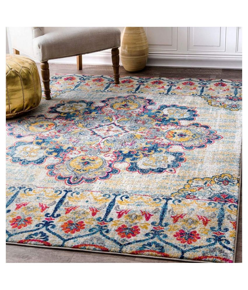 Status Assorted Polyester Carpet Abstract 5x7 Ft