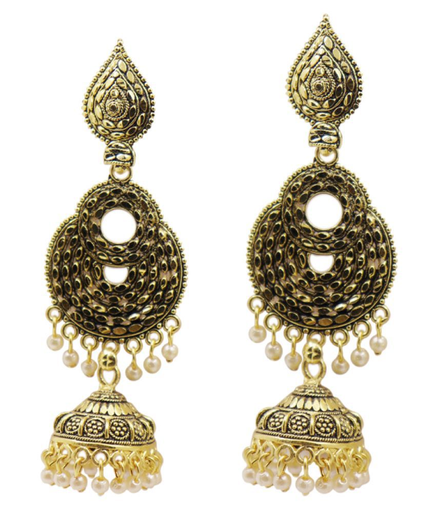 Fashion Jewellery indian Tribal Stylish Fancy Party Wear Earrings for Girls and Women color