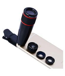 Universal 12X Zoom Optical Phone Telescope Camera Lens For Mobile Cellphone with 3 more lens