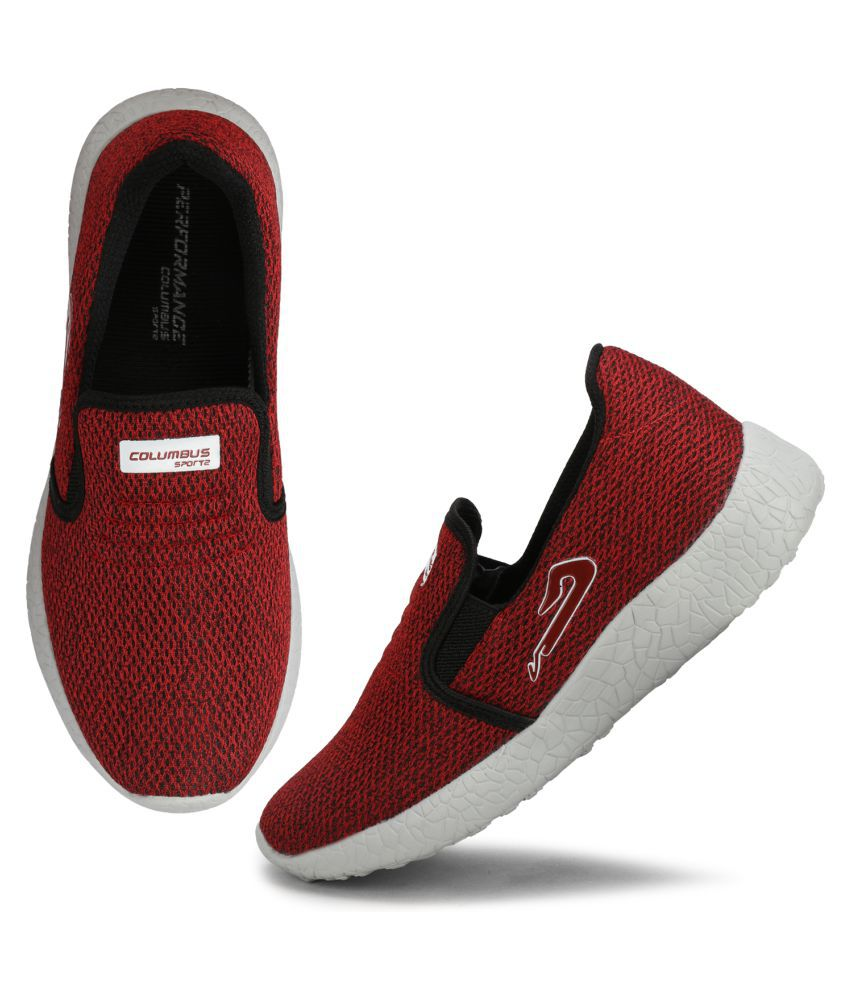 Columbus Red Running Shoes