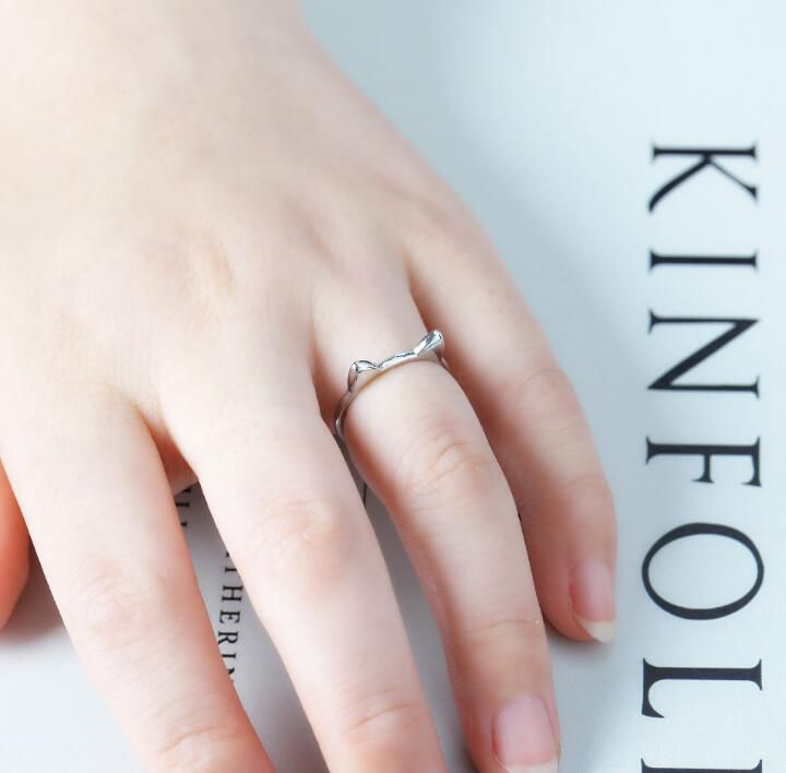 1Pc Silver Color Cat Ear Opening Ring Is Small And Fresh Fashion Jewellery