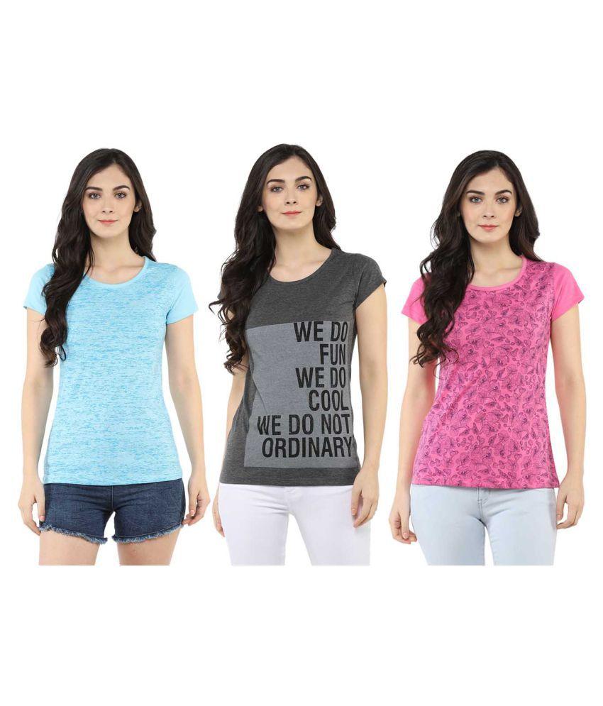 MODEVE Cotton Multi Color T-Shirts