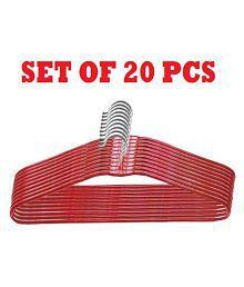 Ivaan Cloth Hanger Plastic Coating -Set of 20)