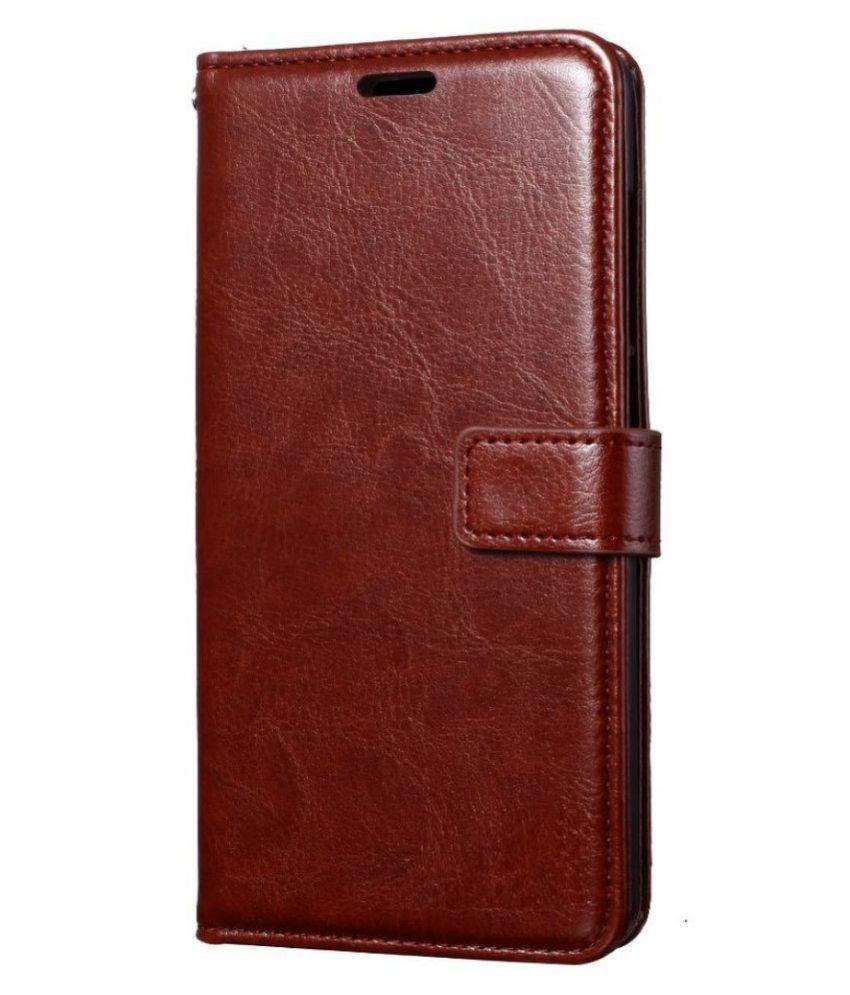 Xiaomi Redmi Note 7 Pro Flip Cover by ClickAway - Brown Original Vintage Flip Case