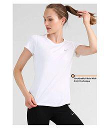 Nike Cotton Blend T Shirts - White