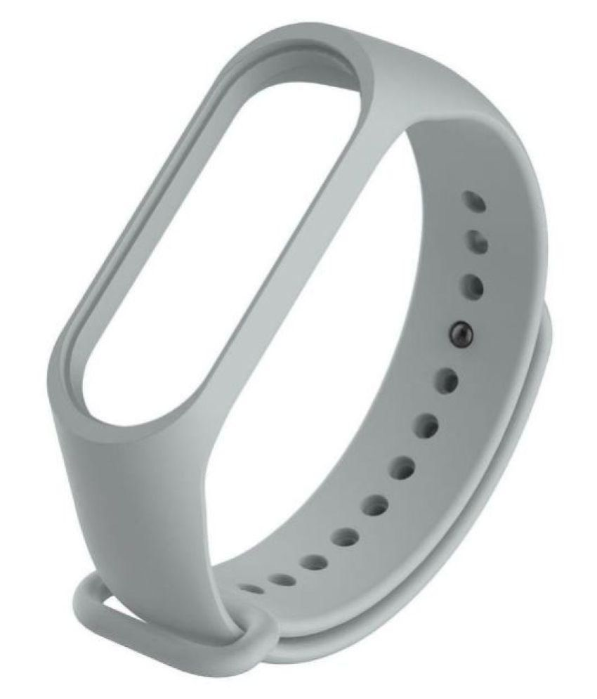 Wristband Band Strap For Xiaomi Mi Band  Smart Bracelet Mi Band Replacement Silicone Wrist Strap Sport band_Grey. This product is Strap only, not included the Band.