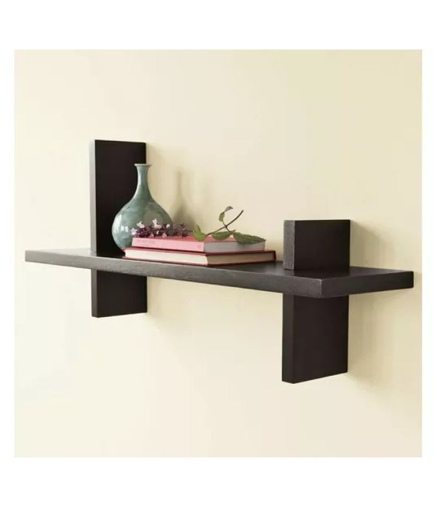 Onlineshoppee Home Decor Wall Hanging Fancy Bracket Wood Wall Shelf