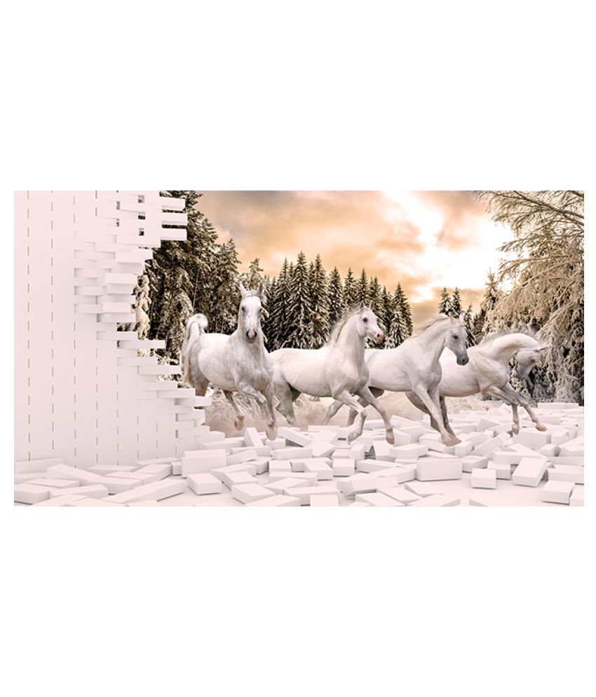 Zara Wallpapers 3d Horse Paper Wall Poster Without Frame Buy Zara