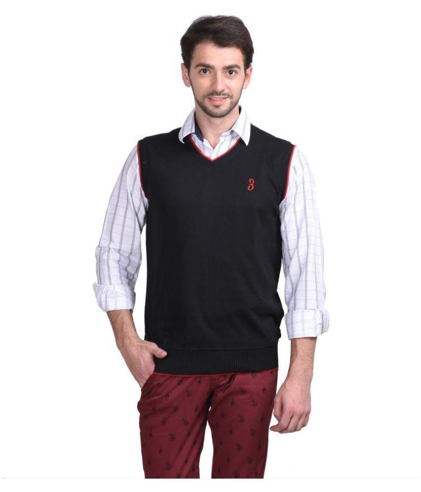 Galatea Black V Neck Sweater