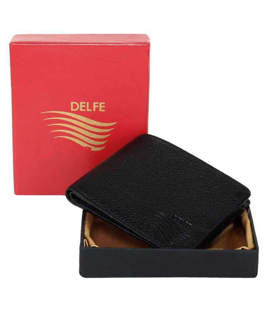 Delfe Leather Black Casual Regular Wallet