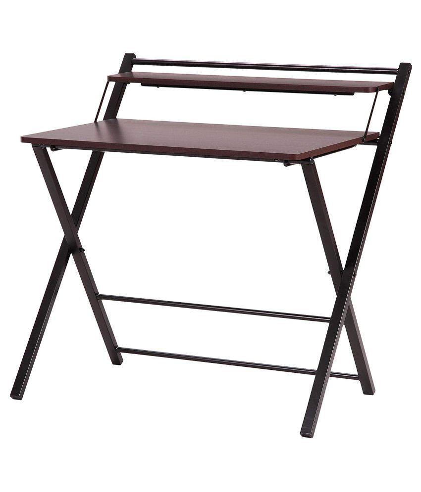 innofur meleti folding study desk foldable office table adjustable rh snapdeal com