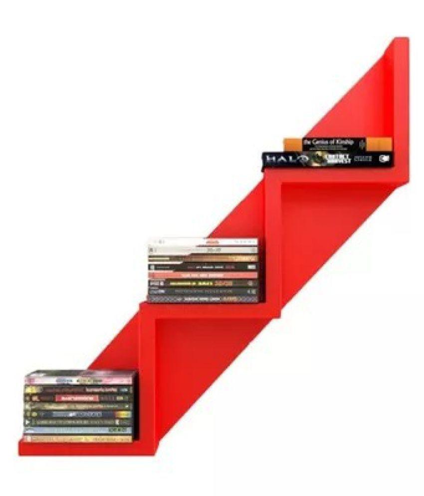 Onlineshoppee MDF Lujoso W Shaped Book Shelf