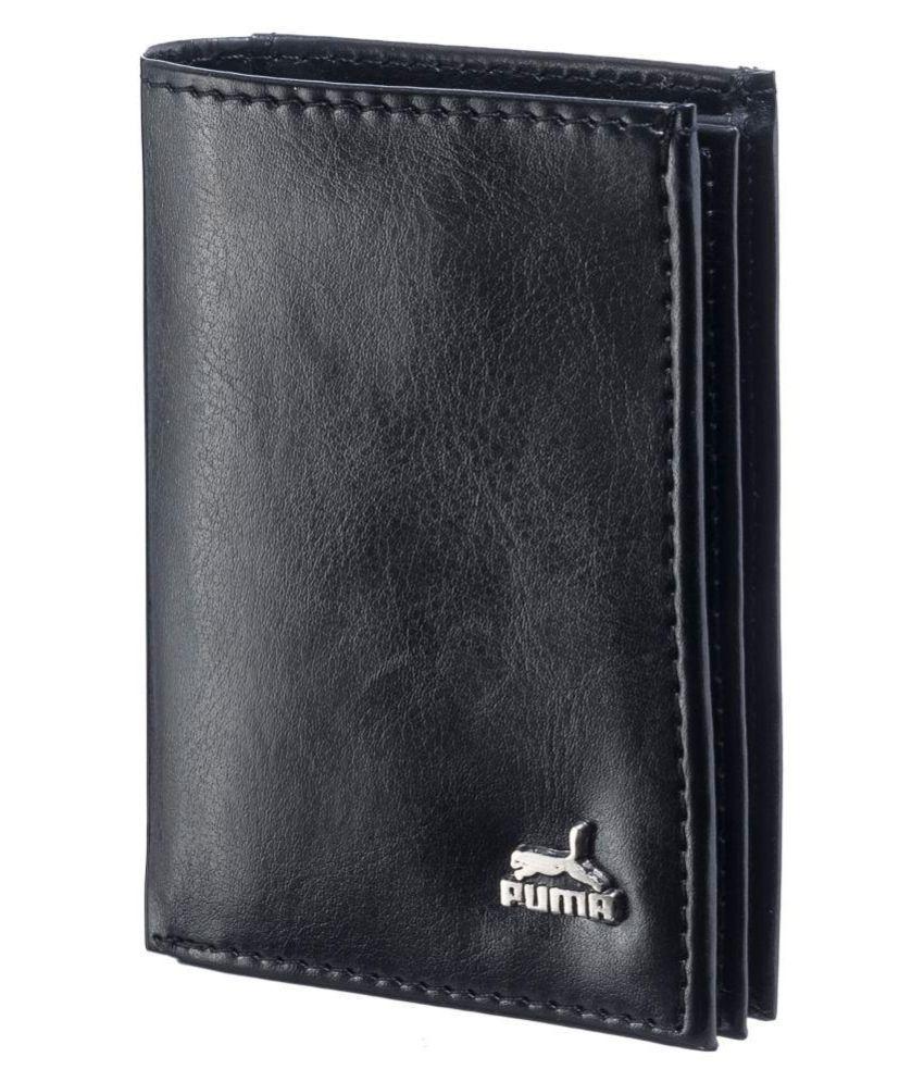 Puma Leather Black Fashion Regular Wallet