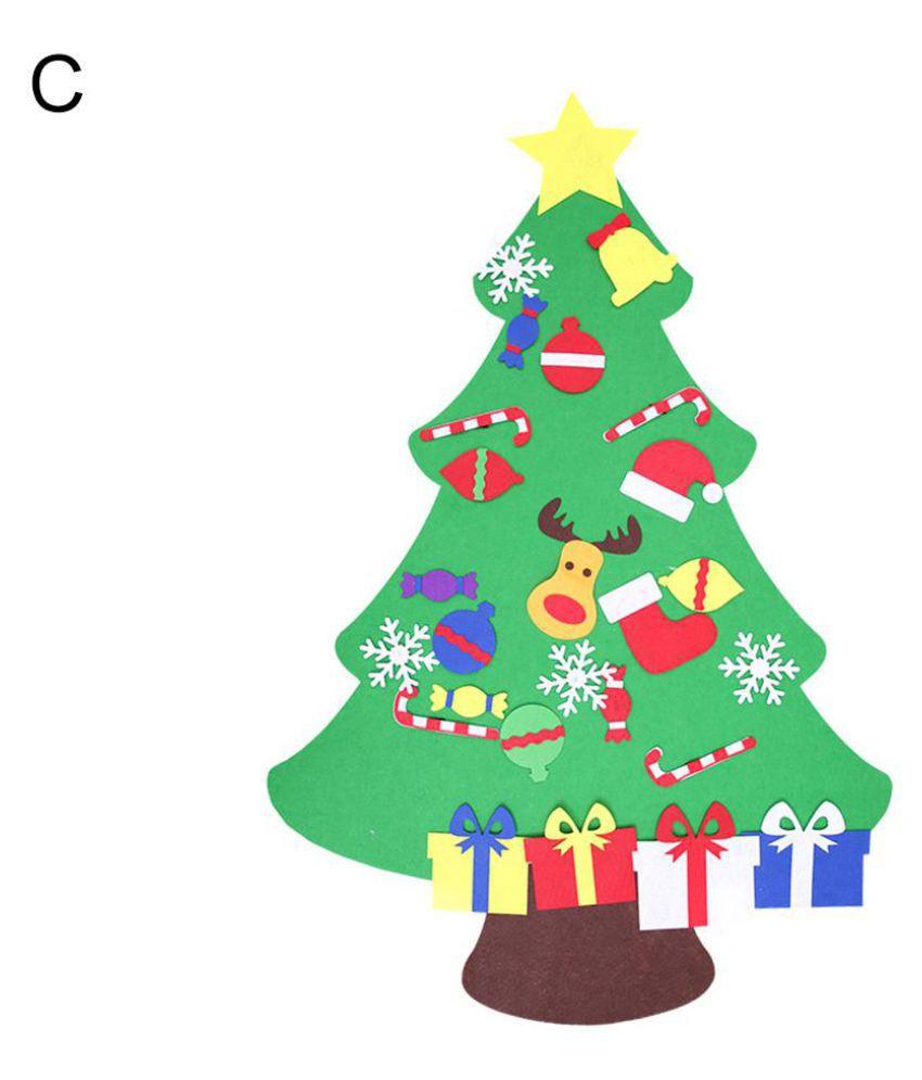finest selection b1767 a4aa8 Felt Christmas Xmas Tree DIY Magic Tape Reindeer Snowman Kids Children  Craft Toy