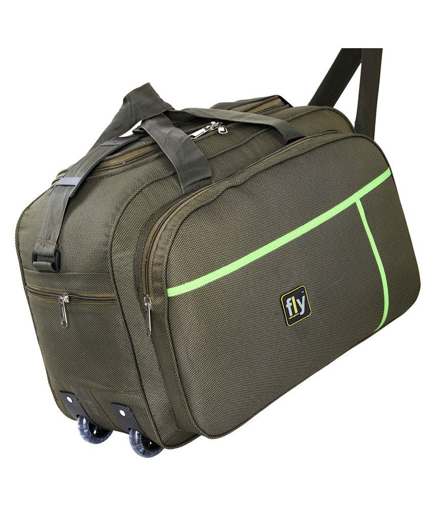 72ee091bfb43 Fly Fashion Green Duffle Bag Travel Bag_55Cm - Buy Fly Fashion Green Duffle Bag  Travel Bag_55Cm Online at Low Price - Snapdeal