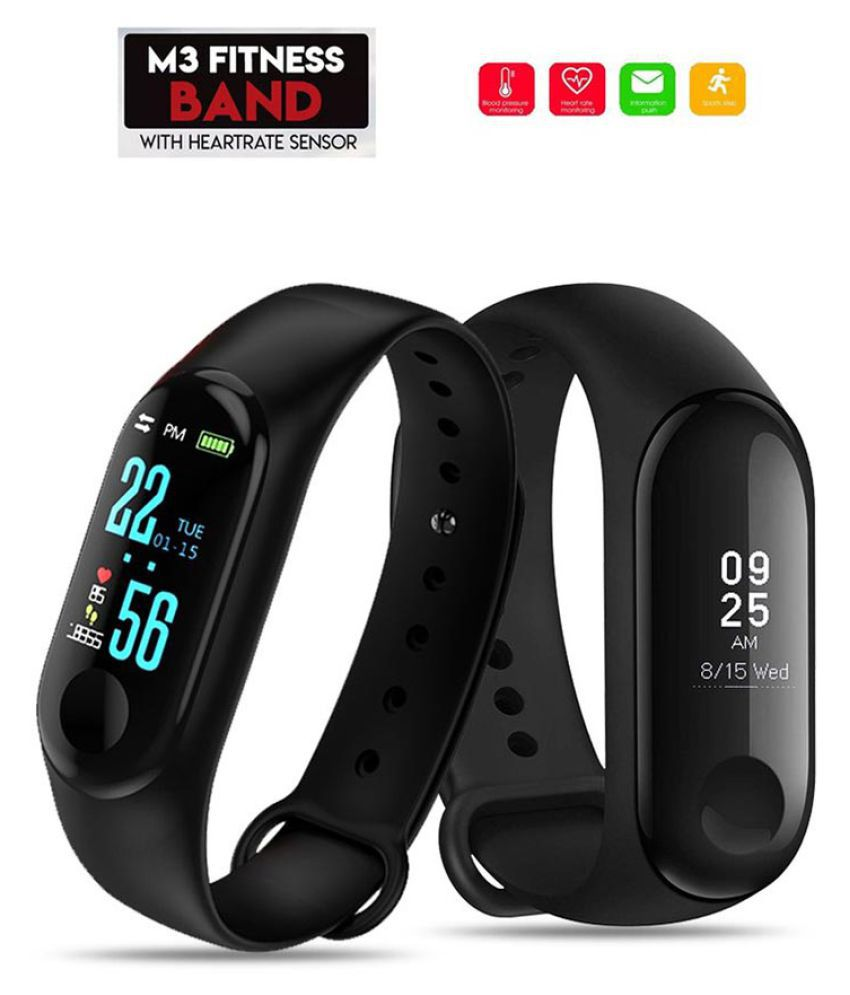 Smart Fitness Band M3 Activity Tracker | Bluetooth 4.2 | Fitband with OLED Heart Rate Monitor, Health Activity, Smart Bracelet Wristband (Android Compatible)