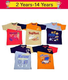 1LY GARMENTS Boys Short Sleeve T-Shirt, Pack of 5 Pieces