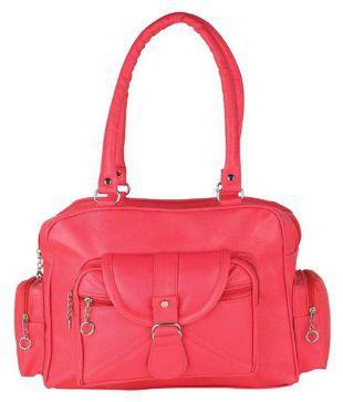55b9224149e58 JAMUNA BAG HOUSE Pink P.U. Handheld   Buy JAMUNA BAG HOUSE Pink P.U.  Handheld at shortlyst.com