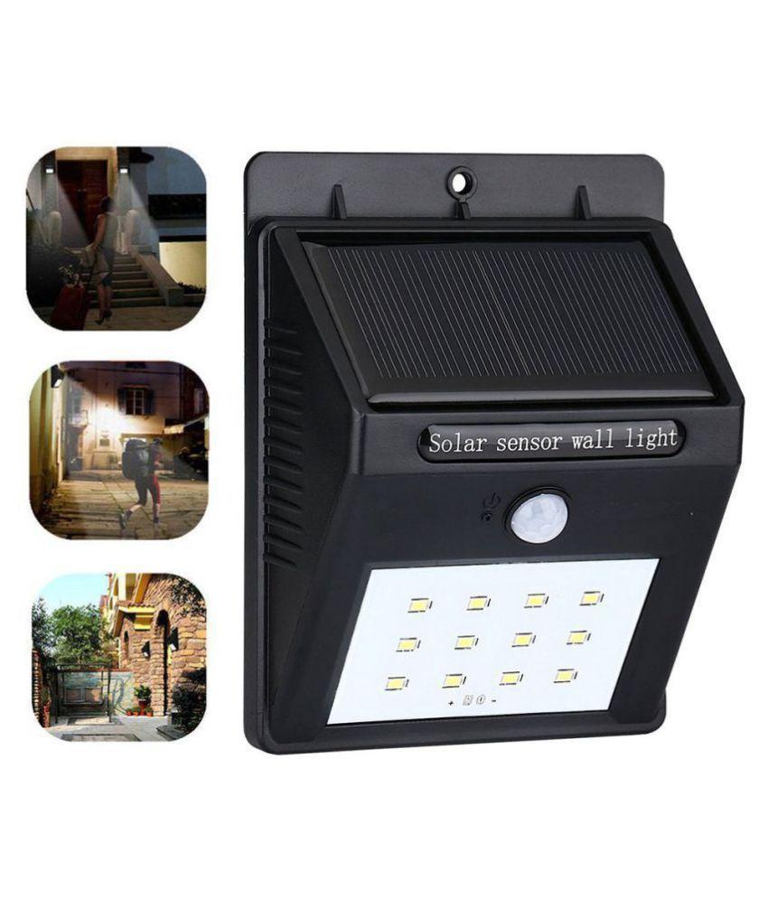 Designeez 12 Leds Outdoor Solar Light Solar Power Panel Wall Lamp PIR Human Solar Motion Sensor Light For Garden Home,Gutter