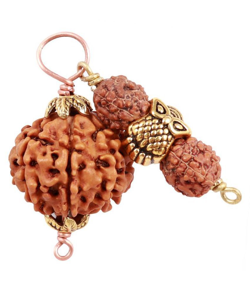 Rudra Blessings 7 Mukhi Rudraksha from Nepal with Lucky Charm Owl