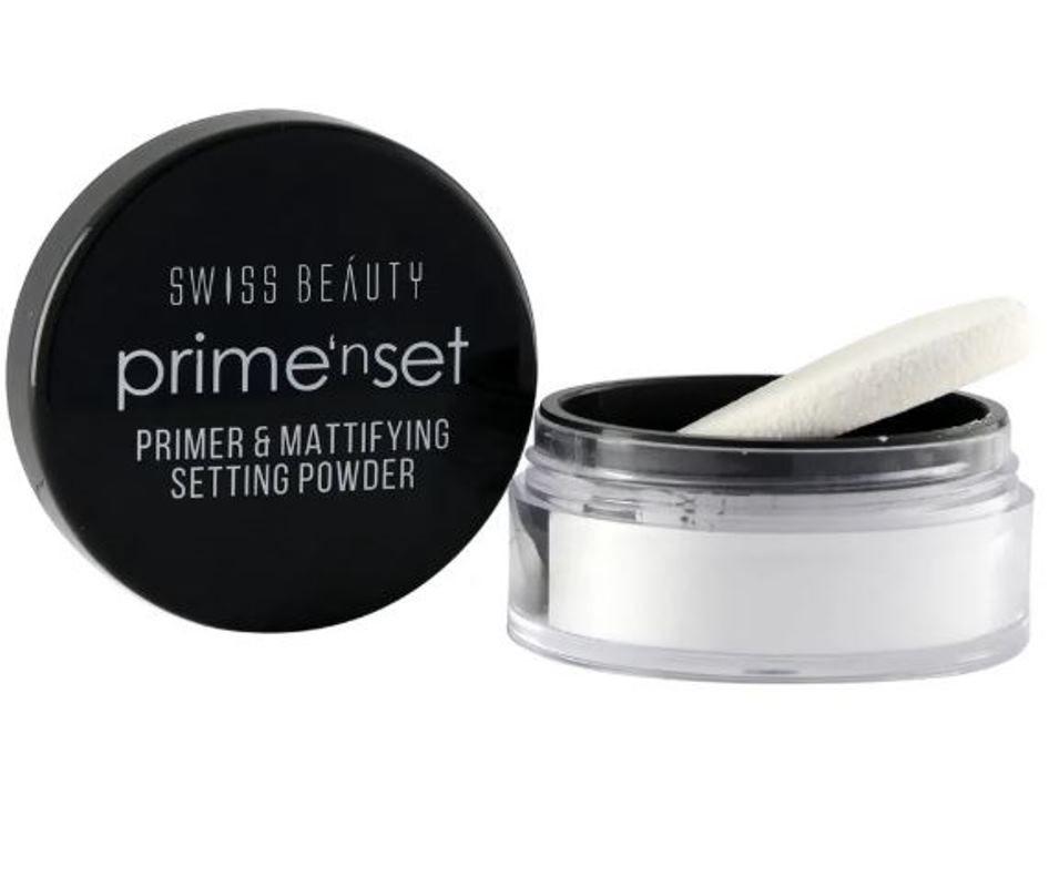 Swiss Beauty prime'n set Primer & Mattifying Setting Powder