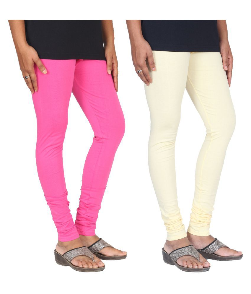 Skandas Trendz Cotton Lycra Pack of 2 Leggings