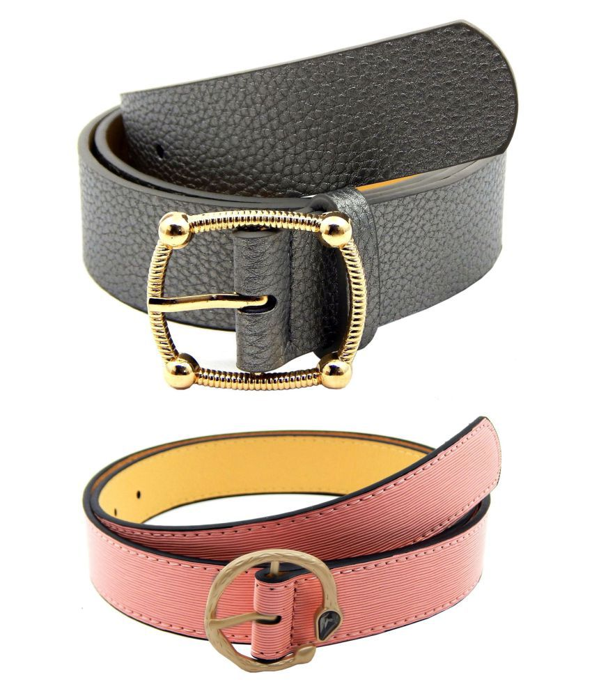 0905e0931 Els Pink Faux Leather Combo Belt  Buy Online at Low Price in India -  Snapdeal
