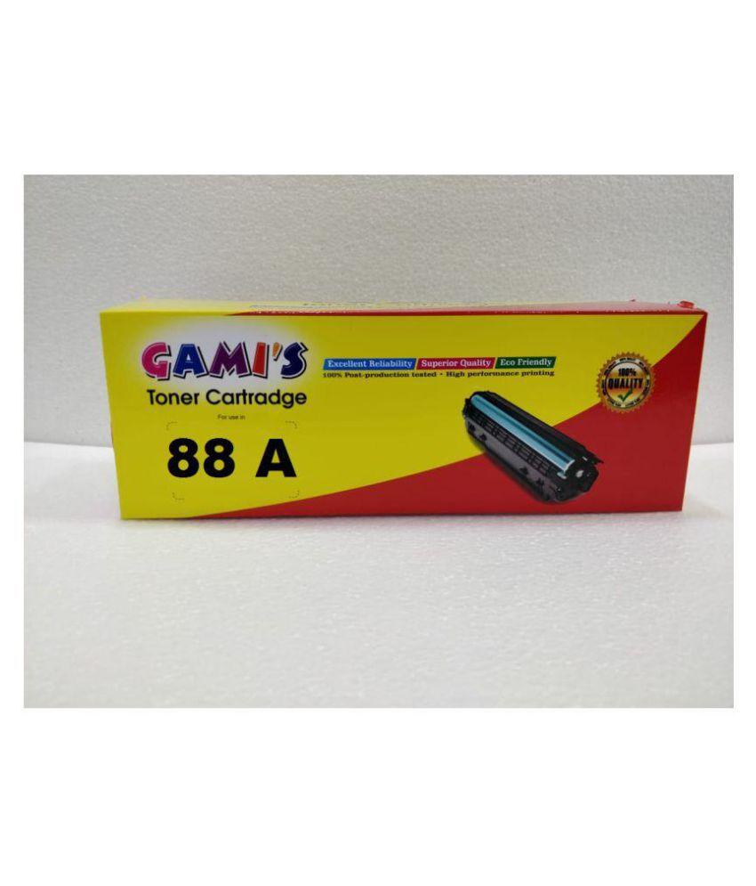 GAMI #039;S Black Single Cartridge for 88A TONER CARTRIDGE HP Laser jet Pro P1008,P1108, M1136, M1213Nf, M1216Nfh, M1218Nfs.