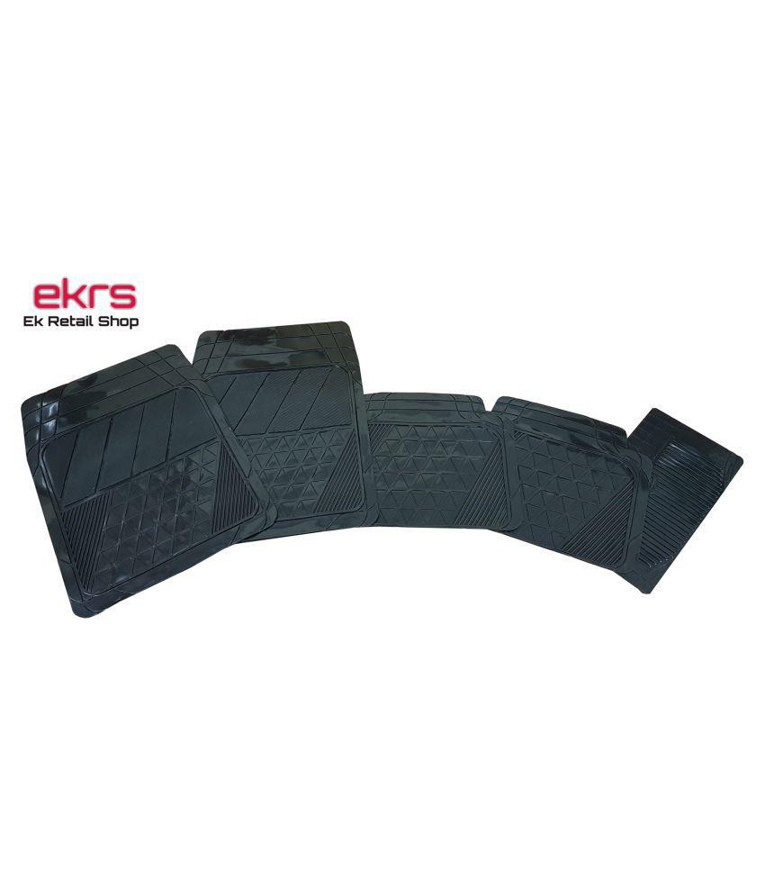 Ek Retail Shop Car Floor Mats (Black) Set of 4 for Skoda Rapid 1.5 TDI AT Ambition