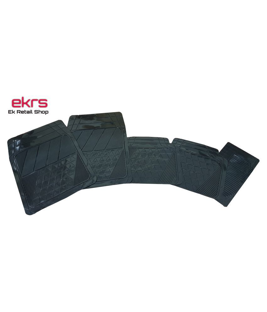 Ek Retail Shop Car Floor Mats (Black) Set of 4 for  Bolero ZLX BS IV