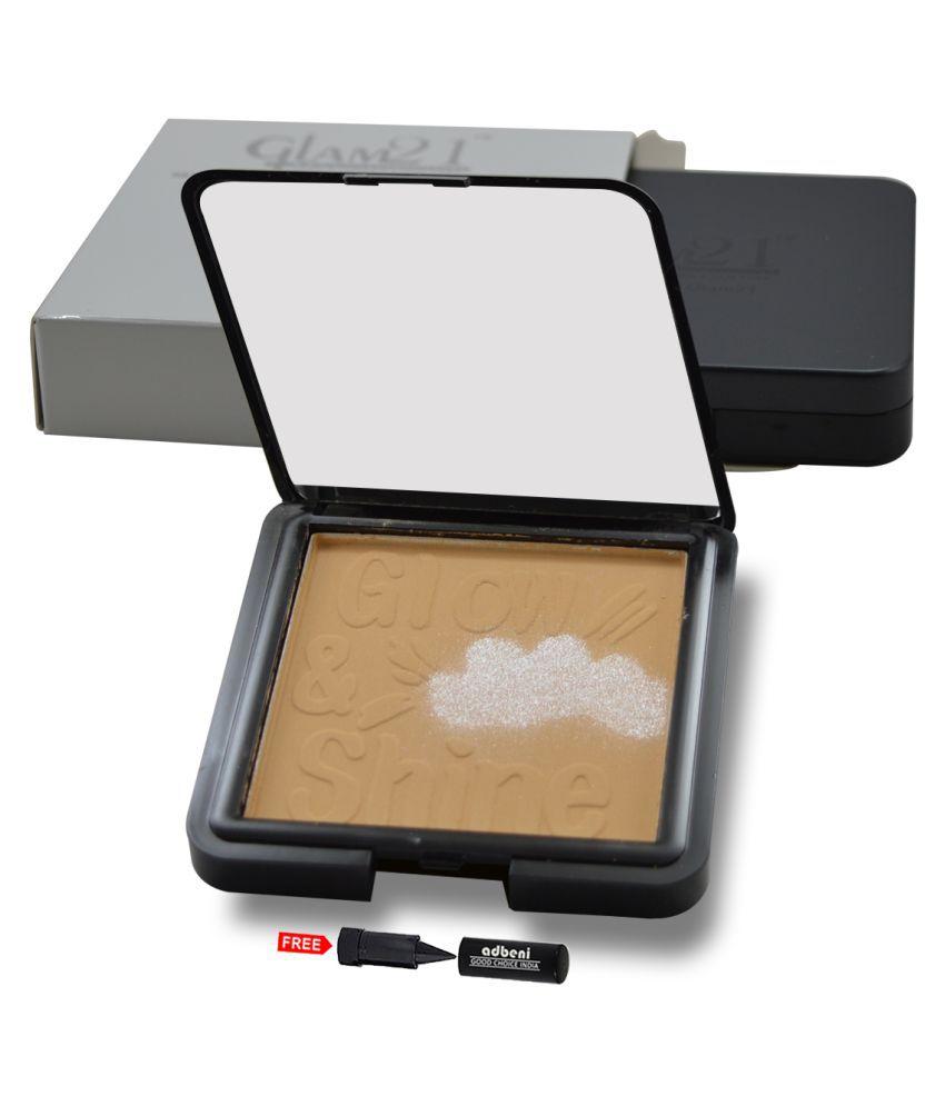Glam21 Compact-CP7005-01 Pressed Powder Tan  12 gm
