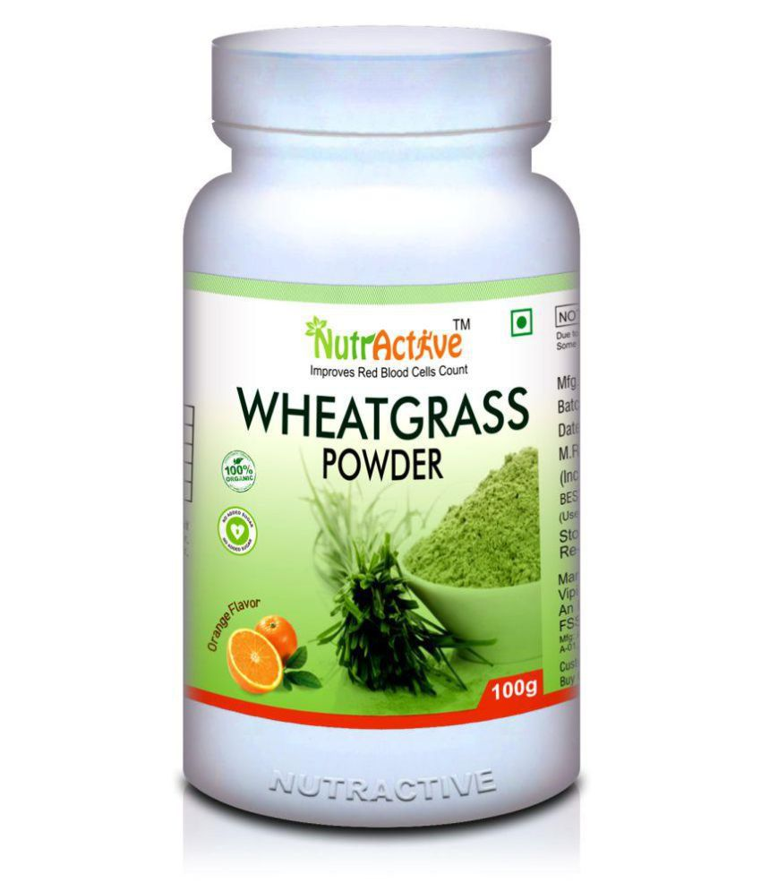 NutrActive Wheatgrass powder for Detoxifies the body 100 gm Powder