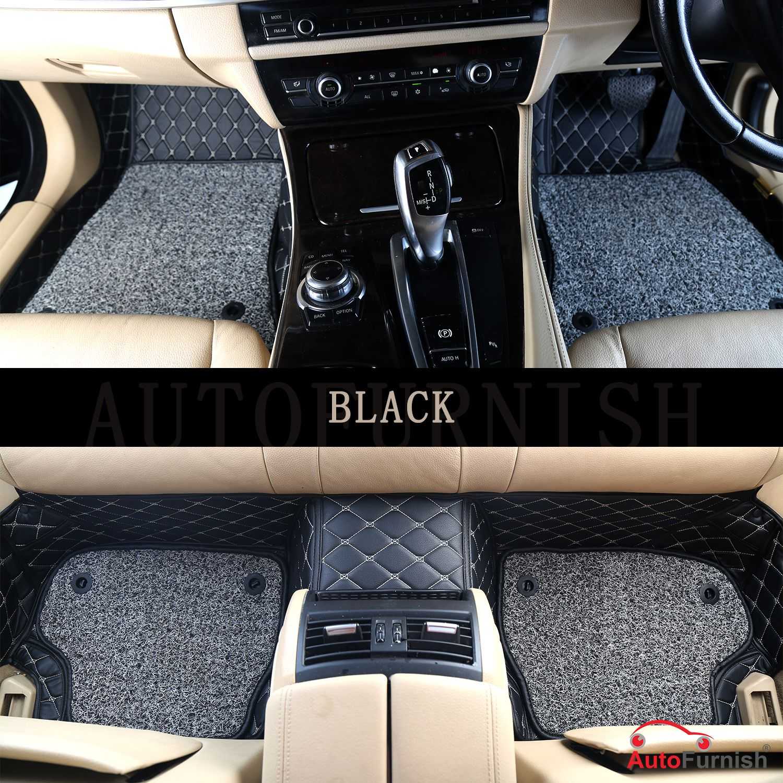 Autofurnish 7D Luxury Car Mats For Innova Crysta - Black - Set of 4 Mats