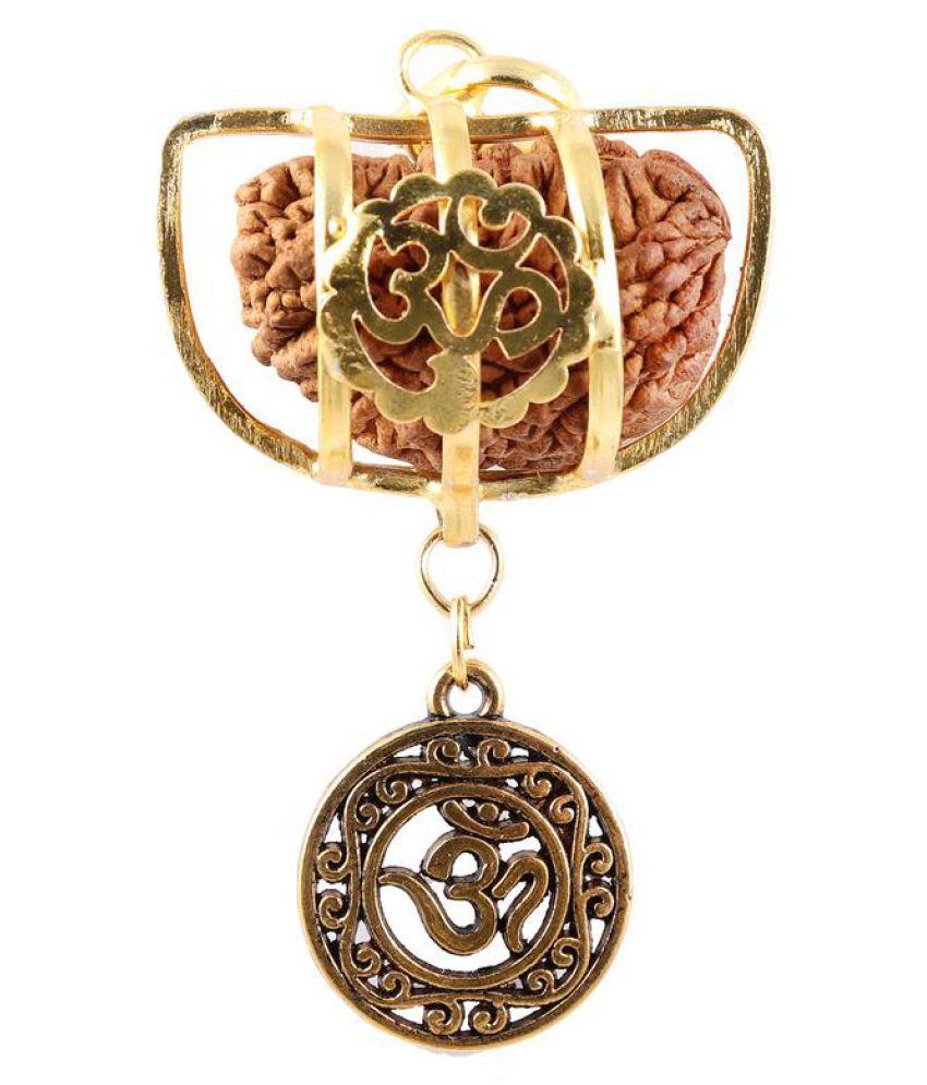 Rudra Blessings Original 1 Mukhi Rudraksha with Lucky Charm OM pendant