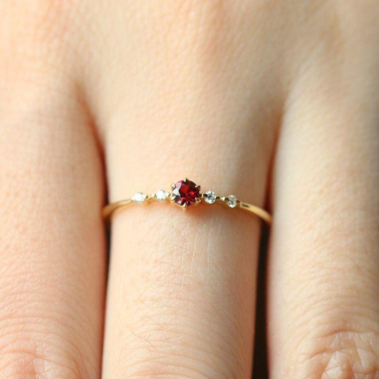 Fashion gagement Small Ruby Ring Fashion Jewellery