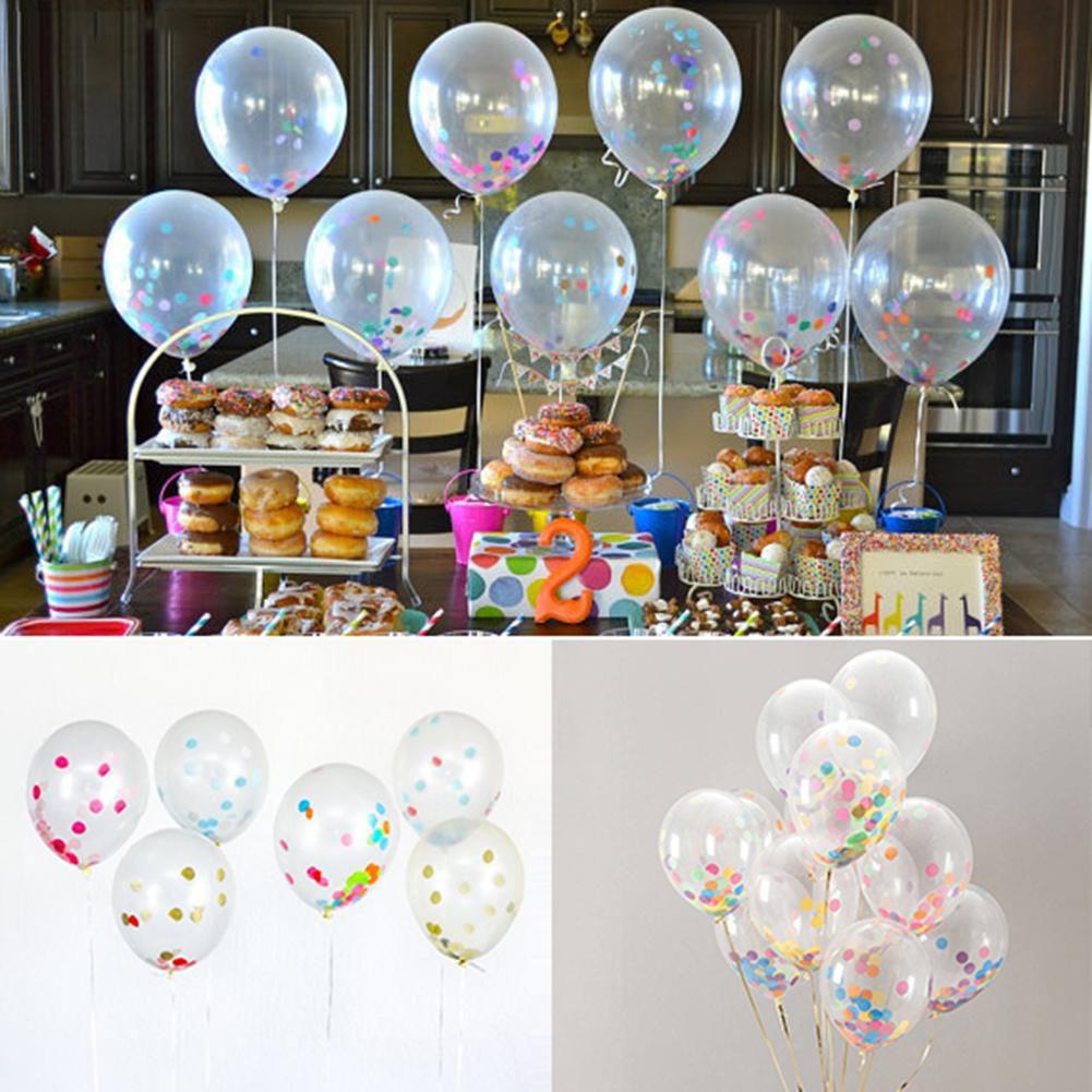 Birthday Wedding Party Decor Latex Helium Quality Balloons Paper Scraps Gift