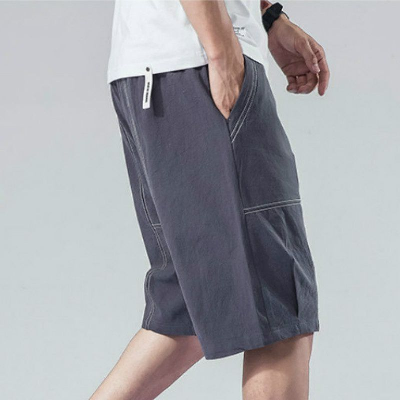 Haorun Grey Regular -Fit Flat Trousers