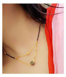 346fee818bf32 Mangalsutras Upto 85% OFF: Buy Gold Plated Mangalsutras Online ...