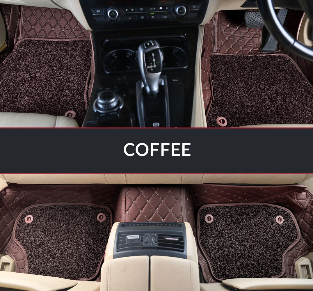 Autofurnish 7D Luxury Car Mats For Hyundai Verna Fludic - Coffee - Set of 3 Mats