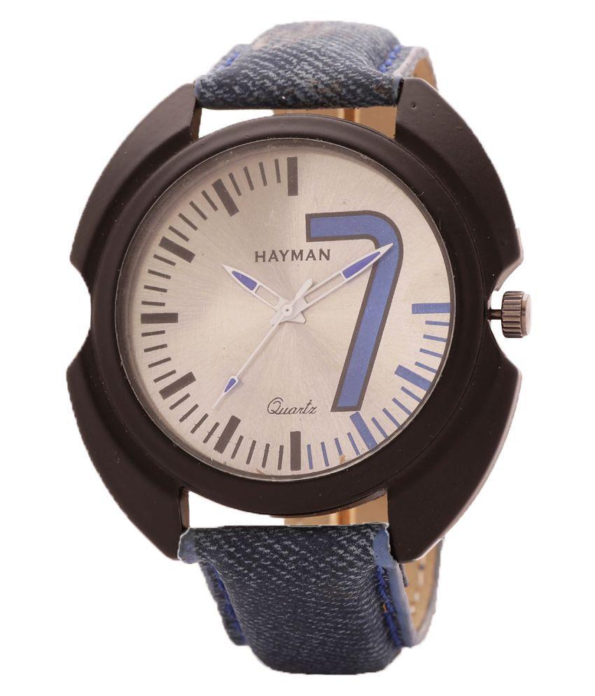 Hayman Beige dial Leather Analog Men's Watch