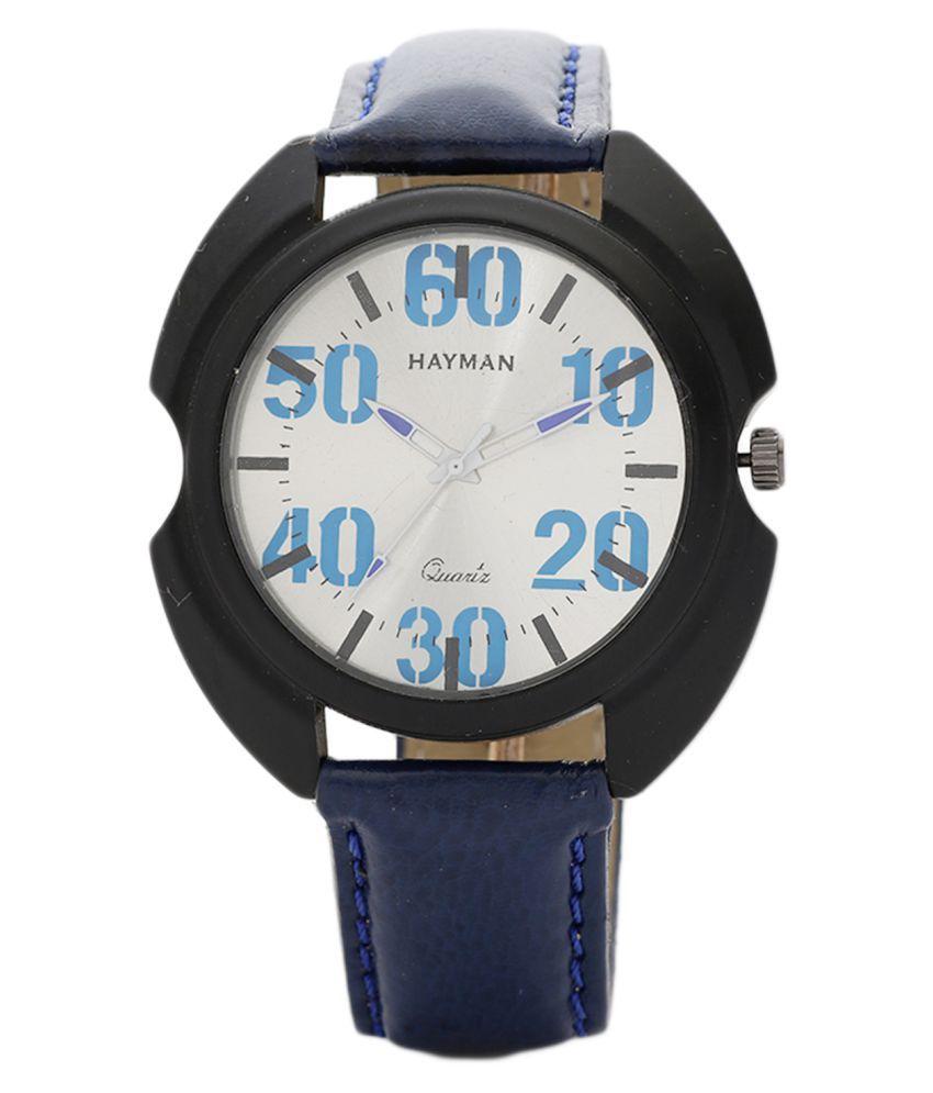 Hayman dial men's Leather Analog Men's Watch